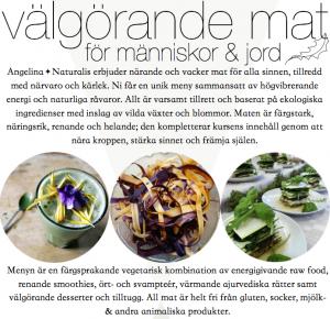 Välgörande mat på retreat - Angelina Naturalis